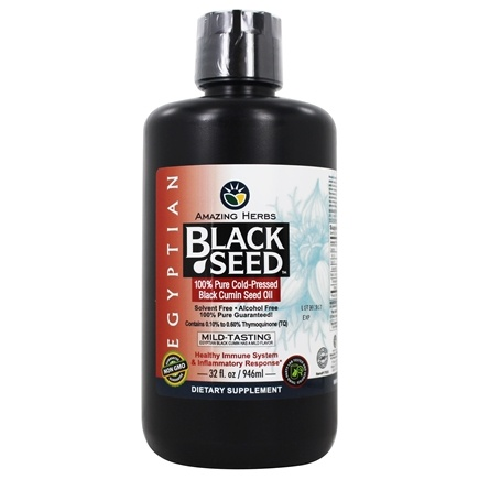 Amazing Herbs - Egyptian Black Seed Cold-Pressed Oil - 32 oz.