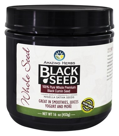 Amazing Herbs - Black Seed Gourmet Whole Seed - 16 oz.