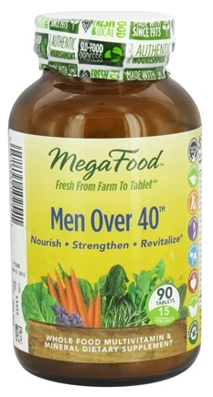 DROPPED: MegaFood - Men Over 40 Multivitamin - 90 Tablets