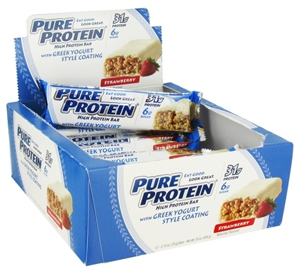 DROPPED: Pure Protein - High Protein Bar with Greek Yogurt Style Coating Strawberry - 2.75 oz.