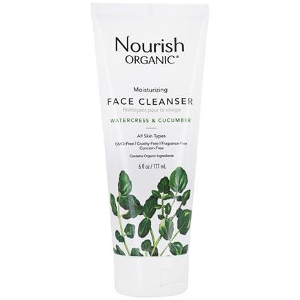 Nourish - Organic Moisturizing Cream Face Cleanser Cucumber + Watercress - 6 oz.