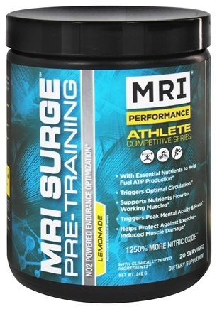 DROPPED: MRI: Medical Research Institute - Performance Athlete Competitive Series Surge Pre-Training Lemonade - 240 Grams