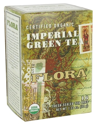 DROPPED: Flora - Certified Organic Imperial Green Tea - 16 Tea Bags