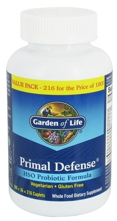 Garden of Life - Primal Defense HSO Probiotic Formula Value Pack - 216 Vegetarian Caplet(s)