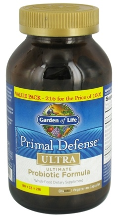 Garden of Life - Primal Defense Ultra Ultimate Probiotic Formula Value Pack - 216 Vegetarian Capsules