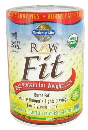 DROPPED: Garden of Life - Raw Fit High Protein for Weight Loss Marley Coffee - 16 oz.
