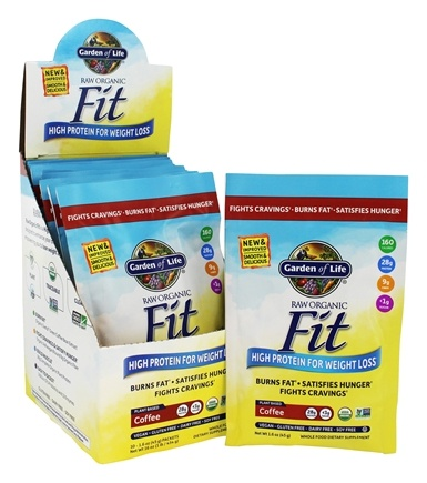 Garden of Life - Raw Fit High Protein for Weight Loss Marley Coffee - 10 Packet(s)