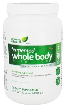 Genuine Health - Fermented Whole Body Nutrition Natural Flavor - 17.3 oz.