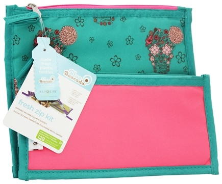 Blue Avocado - Fresh Zip Kit Zippered Reusable Lunch Sleeves Girls Skulls/Pink