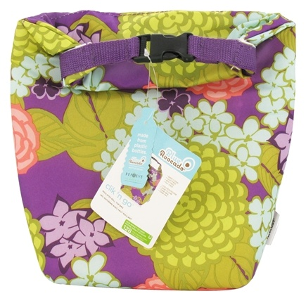 Blue Avocado - Clik 'N Go Reusable Insulated Roll Top Bag Purple Lanai