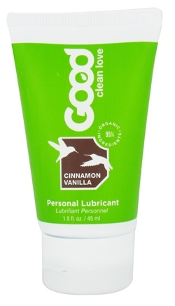 DROPPED: Good Clean Love - All Natural Personal Lubricant Cinnamon Vanilla - 1.5 oz.