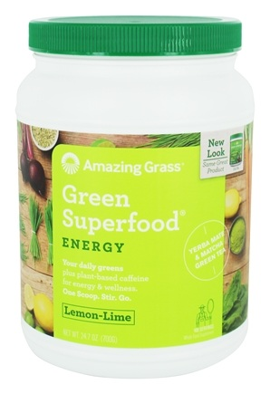 Amazing Grass - Green SuperFood Drink Powder 100 Servings Energy Lemon Lime - 24.7 oz.