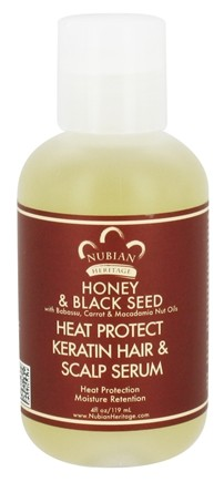 DROPPED: Nubian Heritage - Keratin Hair & Scalp Serum Heat Protect Honey & Black Seed - 4 oz.