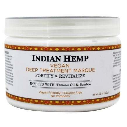 Nubian Heritage - Hair Treatment Masque Grow & Strengthen Indian Hemp & Tamanu - 12 oz.