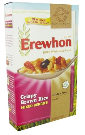 DROPPED: Erewhon - Organic Whole Grain Cereal Crispy Brown Rice Mixed Berries - 9.5 oz.