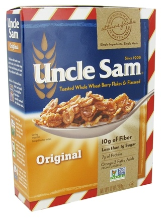 DROPPED: Uncle Sam - Toasted Whole Wheat Berry Flakes & Flaxseed Cereal Original - 10 oz.