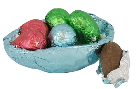 DROPPED: Sjaak's Organic Chocolate - Organic Half Foil Easter Egg Filled with Peanut Butter Eggs - 4.5 oz.
