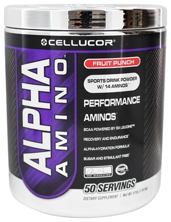 DROPPED: Cellucor - Alpha Amino Performance Aminos Fruit Punch 50 Servings - 610 Grams
