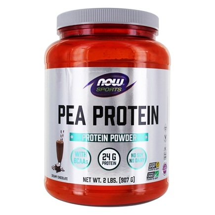 NOW Foods - Pea Protein 100% Pure Non-GMO Vegetable Protein Dutch Chocolate - 2 lbs.