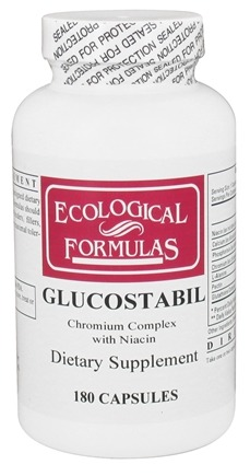 Ecological Formulas - Glucostabil Chromium Complex with Niacin - 180 Capsules (Formerly Cardiovascular Research)