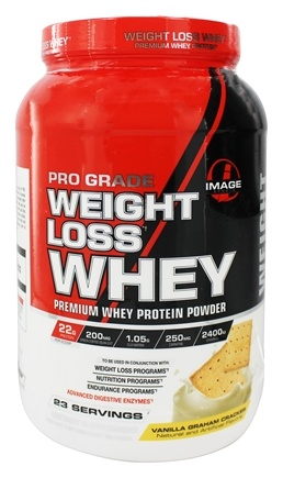 DROPPED: Image Sports - Pro Grade Weight Loss Whey Vanilla Graham Cracker 23 Servings - 1.97 lbs.