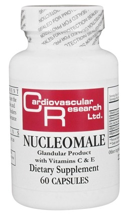 DROPPED: Ecological Formulas - NucleoMale Glandular Product with Vitamins C & E - 60 Capsules (Formerly Cardiovascular Research)
