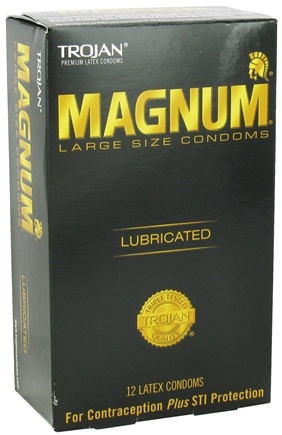Trojan - Magnum Large Size Lubricated Condoms - 12 Count