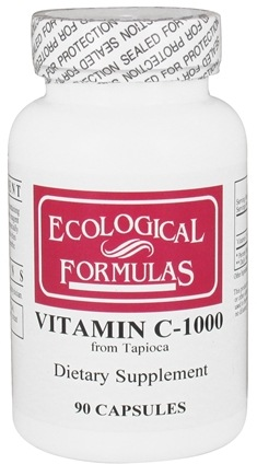 Ecological Formulas - Vitamin C-1000 from Tapioca 1000 mg. - 90 Capsules (Formerly Cardiovascular Research)