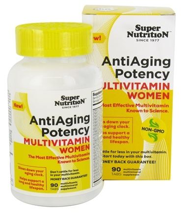 DROPPED: Super Nutrition - Anti-Aging Potency Multivitamin Women - 90 Tablets