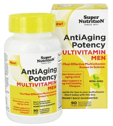 DROPPED: Super Nutrition - Anti-Aging Potency Multivitamin Men - 90 Tablets