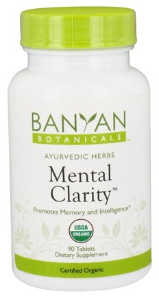 Banyan Botanicals - Organic Mental Clarity 500 mg. - 90 Tablets