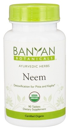 DROPPED: Banyan Botanicals - Organic Neem 500 mg. - 90 Tablets