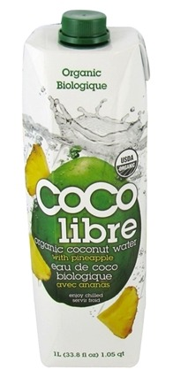 Coco Libre - Pure Organic Coconut Water Pineapple - 1 Liter