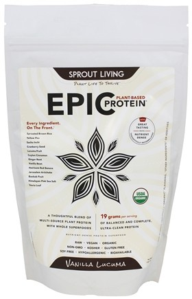 DROPPED: Sprout Living - Epic Plant-Based Protein Vanilla Lucuma - 16 oz.
