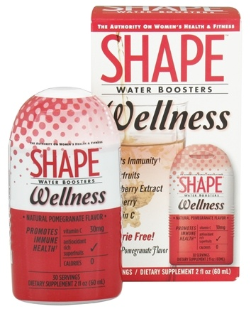 DROPPED: Shape Nutritional - Water Boosters Wellness Natural Pomegranate Flavor - 2 oz.