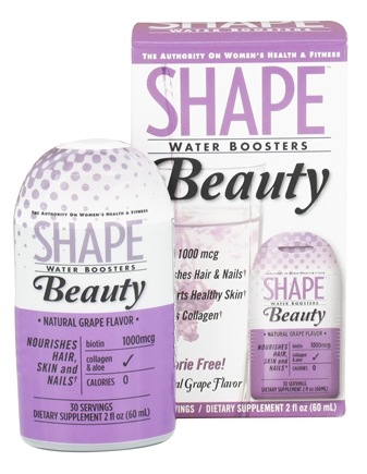 DROPPED: Shape Nutritional - Water Boosters Beauty Natural Grape Flavor - 2 oz.