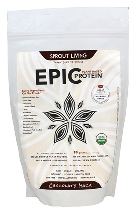 Sprout Living - Epic Plant-Based Protein Chocolate Maca - 16 oz.