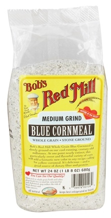 DROPPED: Bob's Red Mill - Blue Cornmeal Medium Grind Whole Grain Stone Ground - 24 oz.