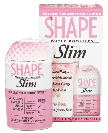 DROPPED: Shape Nutritional - Water Boosters Slim Natural Pink Lemonade Flavor - 2 oz.