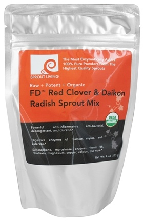 Sprout Living - FD Red Clover & Daikon Radish Sprout Mix - 4 oz.
