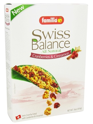 DROPPED: Familia - Swiss Balance All Natural Cranberries & Cinnamon - 16 oz.