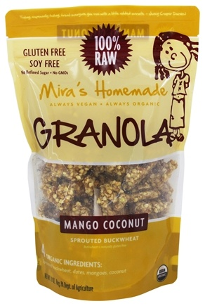 DROPPED: Mira's Homemade - 100% Raw Granola Mango Coconut - 8 oz.
