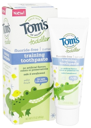 Tom's of Maine - Toddler Fluoride-Free All Natural Training Toothpaste Mild Fruit - 1.75 oz.
