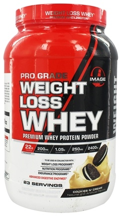 DROPPED: Image Sports - Pro Grade Weight Loss Whey Cookies N'Cream 23 Servings - 1.97 lbs.