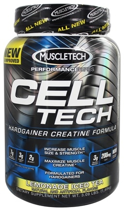 DROPPED: Muscletech Products - Cell Tech Performance Series Hardgainer Creatine Formula Lemonade Iced Tea - 3.09 lbs.