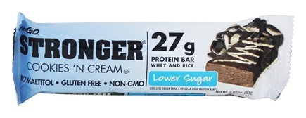 NuGo Nutrition - Stronger Protein Bar Cookies 'N Cream - 2.82 oz.