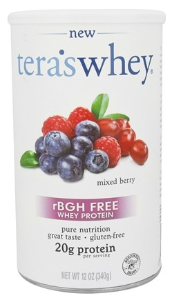DROPPED: Tera's Whey - rBGH Free Whey Protein Mixed Berry - 12 oz.