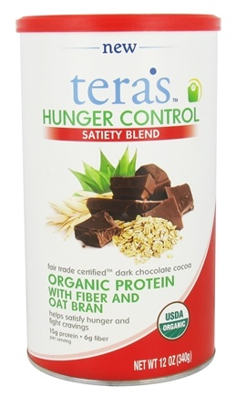 Tera's Whey - Hunger Control Satiety Blend Fair Trade Certified Dark Chocolate Cocoa - 12 oz.