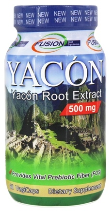 Fusion Diet Systems - Yacon Root Extract 500 mg. - 60 Vegetarian Capsules