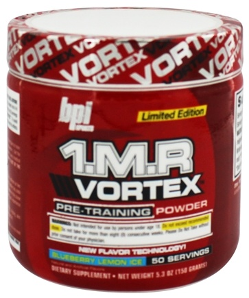 BPI Sports - 1 M.R Vortex Limited Edition Pre-Workout Powder Blueberry Lemon Ice 50 Servings - 150 Grams
